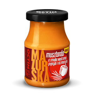 Smoked pepper and rosemary flavoured mustard