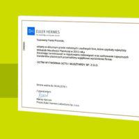 OCTIM_Euler Hermes_Certyfikat